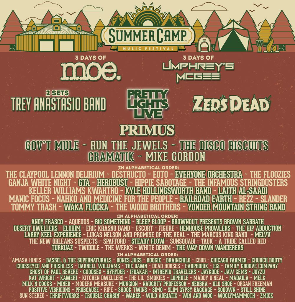 Summer Camp 2017 Lineup