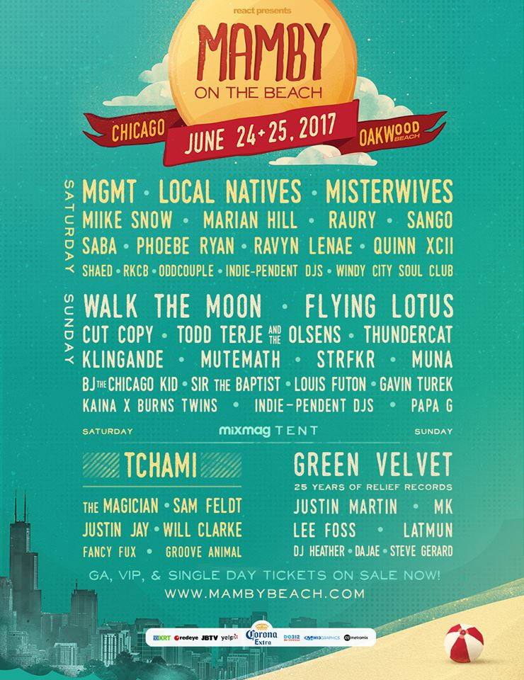 Mamby on the Beach 2017 Lineup