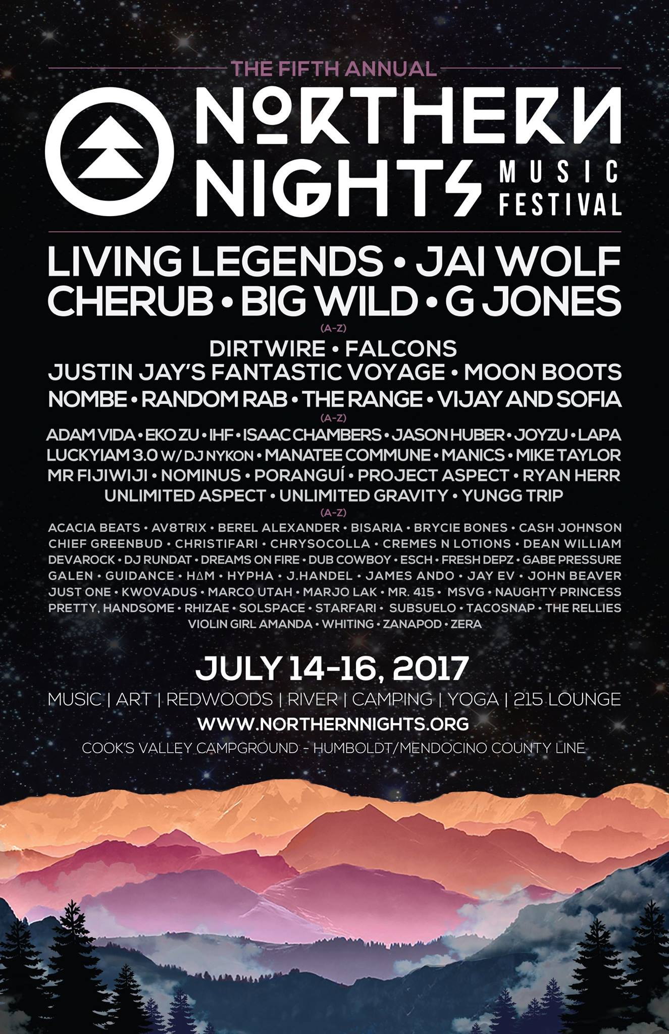 Northern Night 2017 Lineup Flyer