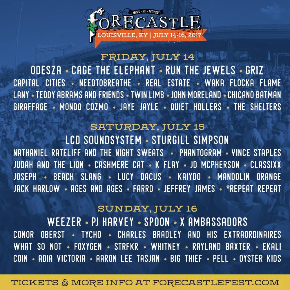 Forecastle Festival 2017 Lineup