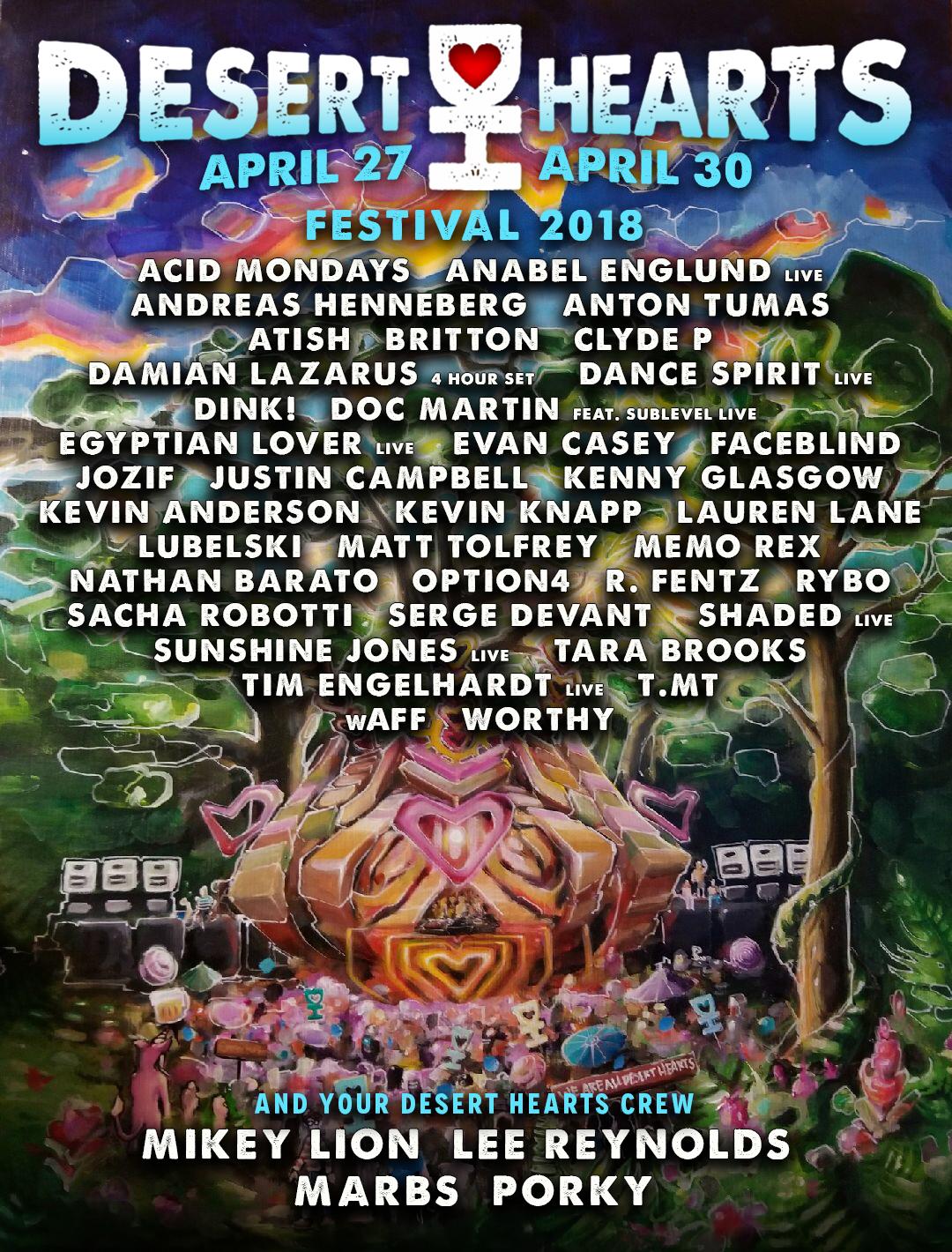 Desert Hearts Festival Lineup
