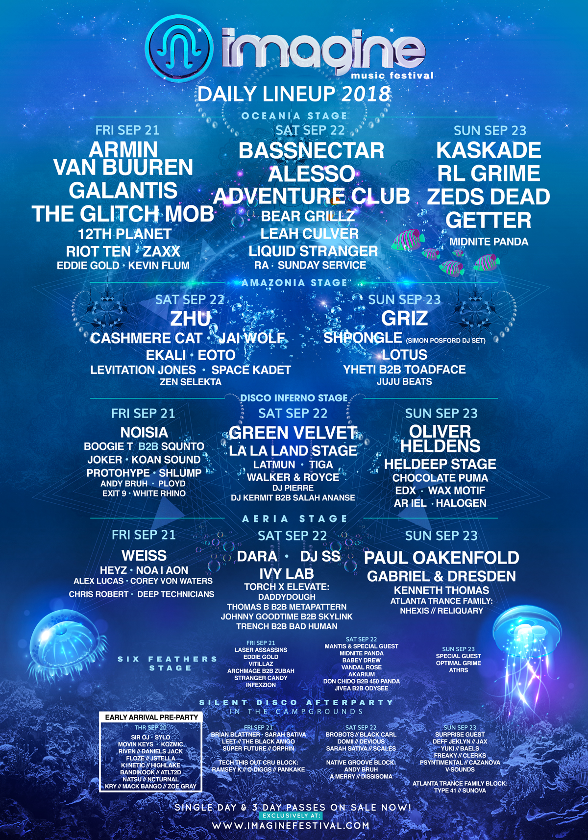 Imagine Festival 2018 lineup