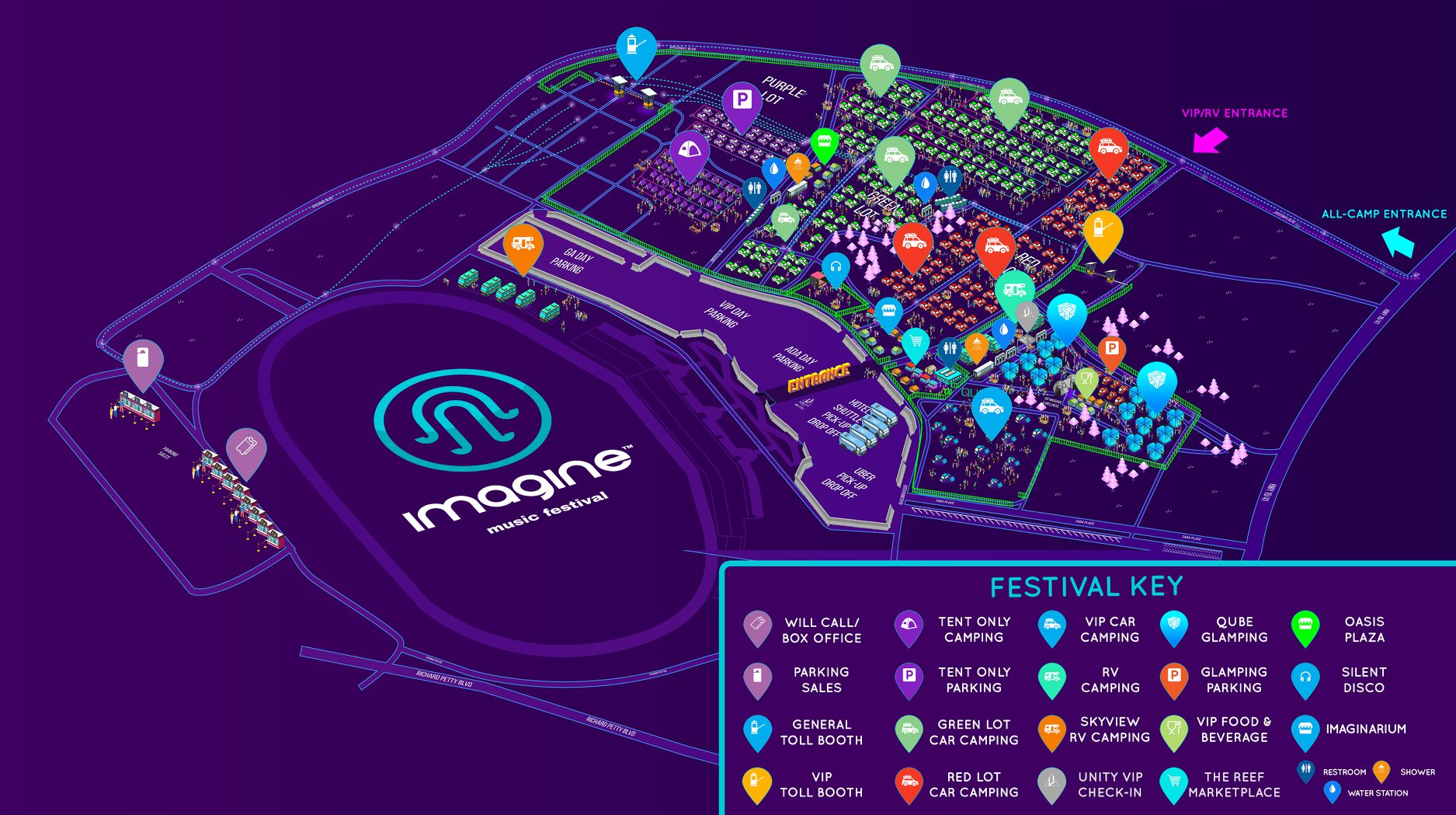 Imagine Festival 2018 Map