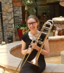 Rebecca B offers trombone lessons in Washington Avenue , TX