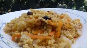 מתכון ל תבשיל קינואה, בורגול וירקות