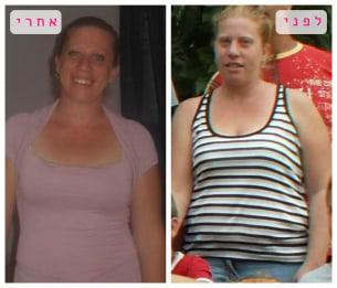 הדס לפני ואחרי תהליך ההרזיה במותר לי