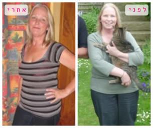 רונית לפני ואחרי תהליך ההרזיה במותר לי