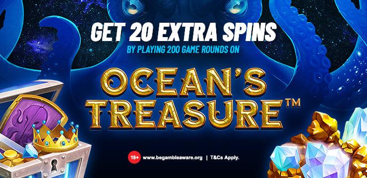 20 Spins on Ocean's Treasure