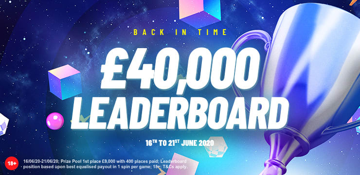 Back In Time £40,000 Leaderboard