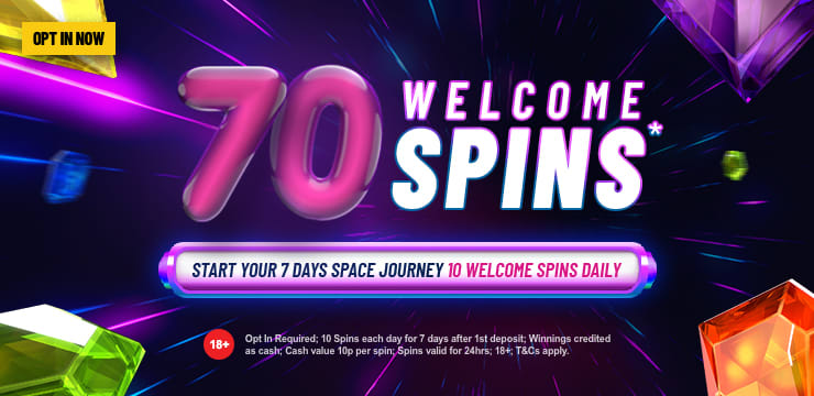 70 Welcome Spins