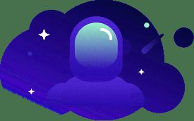 Astronaut in spacesuit.