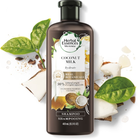Herbal Essences Coconut Milk Shampoo Bottle for Hair Hydration