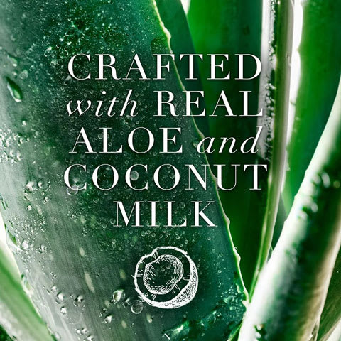 Crafted with real aloe and coconut milk