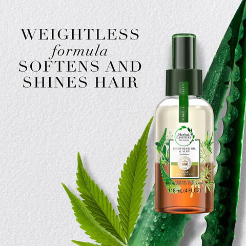 Weightless formula softend and shines hair