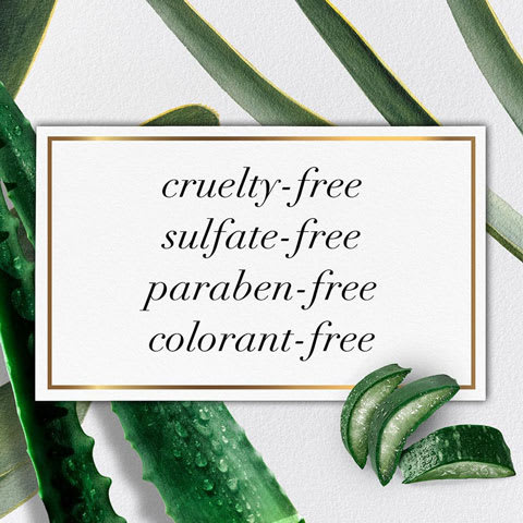 Cruelty-free, sulfate-free, paraben-free, colorant-free