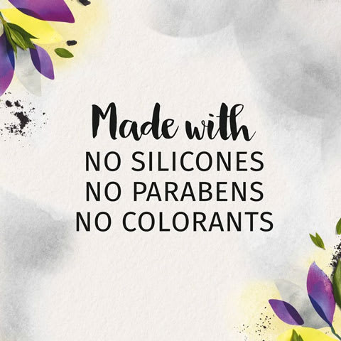 Made with no silicones, no parabens, no colorants