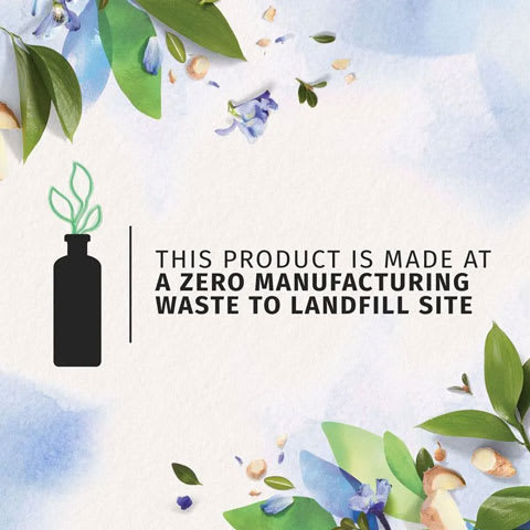 This product is made at a zero manufacturing waste to landfill site