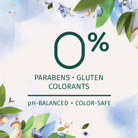 Zero percent of parabens, gluten and colorants