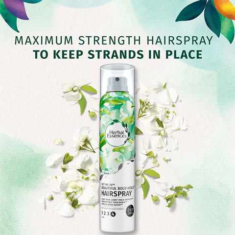 Maximum strength hairspray to keep strands in place