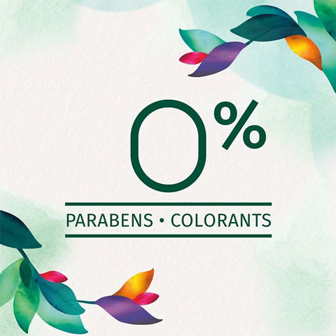 Zero percent of parabens and colorants
