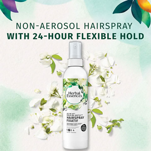 Non-aerosol hairspray with 24-hour flexible hold