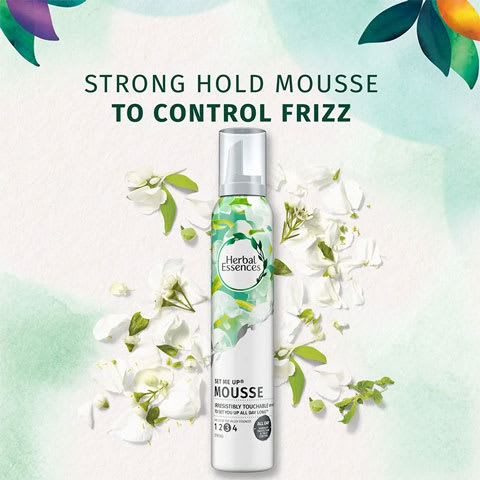 Strong hold mousse to control frizz