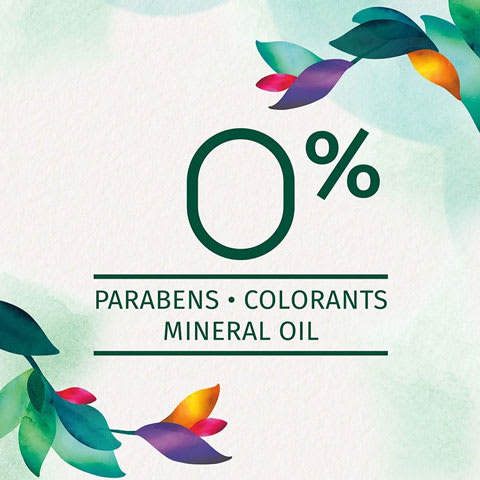 Zero percent of parabens, colorants and mineral oil