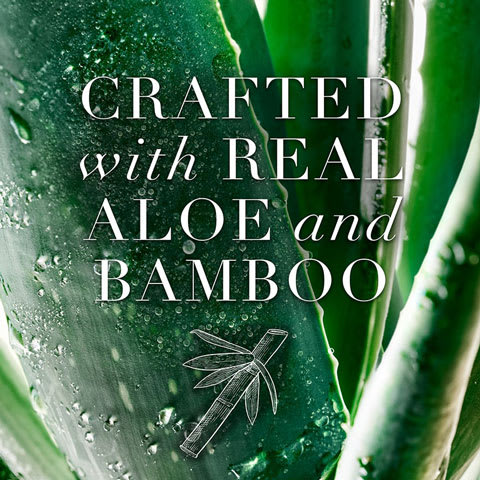 Crafted with real aloe and bamboo