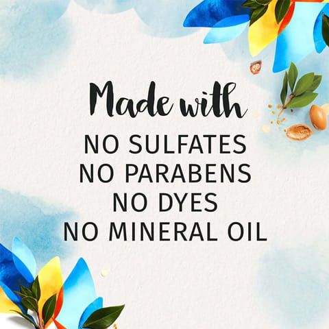 Made with no sulphates, no parabens, no dyes, no mineral oil