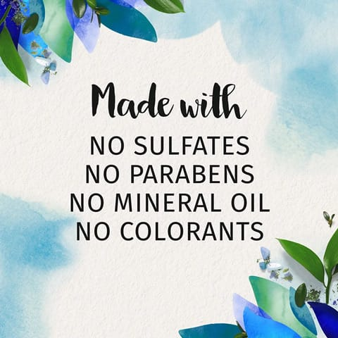 Made with no sulphates, no parabens, no mineral oil, no colourants