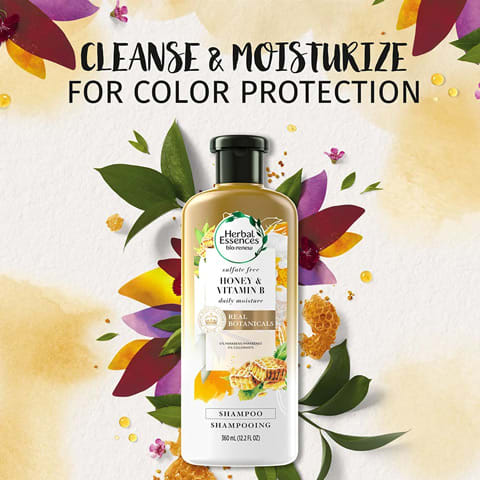 Cleanse and moisturise for colour protection