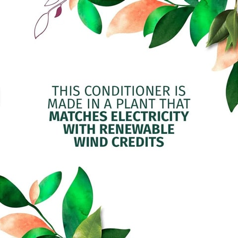 This conditioner is made in a plant that matches electricity with renewable wind credits