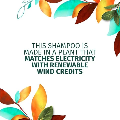 This shampoo is made in a plant that matches electricity with renewable wind credits