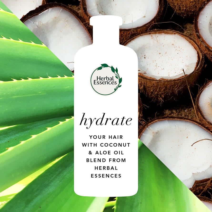 Hydrate your hair with coconut and aloe oil blend from Herbal Essences