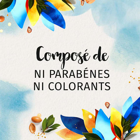Composé de ni parabenes ni colorants