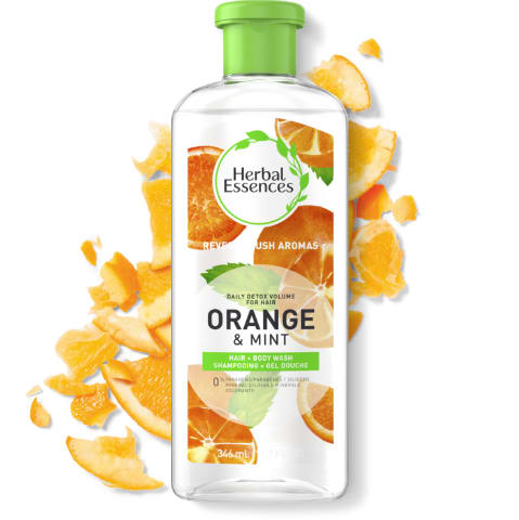 Shampooing hydratant Herbal Essences Daily Detox orange et menthe