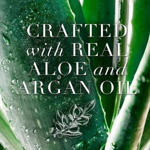 Crafted with real aloe and argan oil