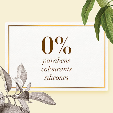 0% parabens, colourants and silicones