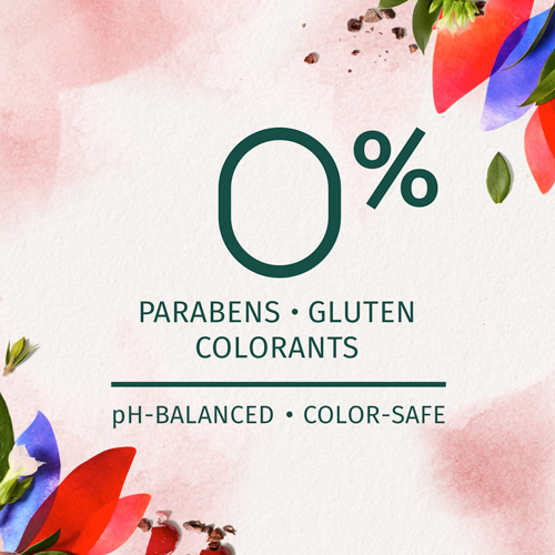 0% Parabens, Gluten and Colorants - Ph-Balanced and Color Safe