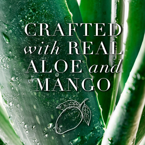 Crafted with Real Aloe and Mango