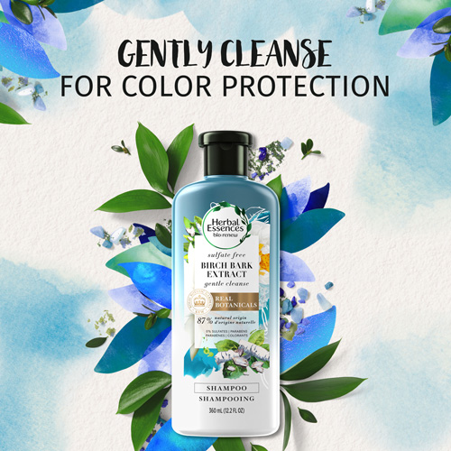 Gently Cleanse for Color Protection
