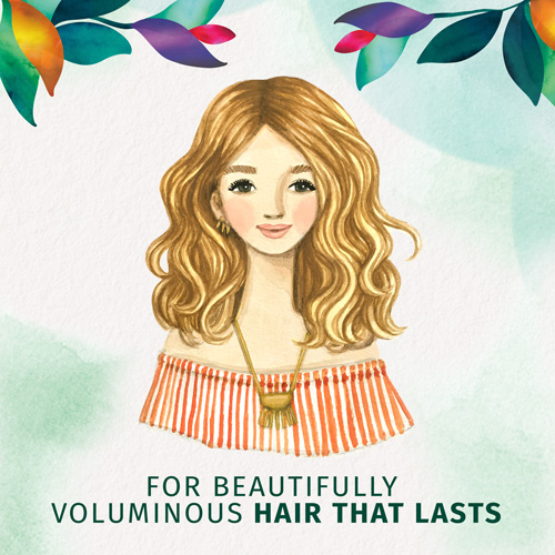 For Beautifully Voluminious Hair that Lasts