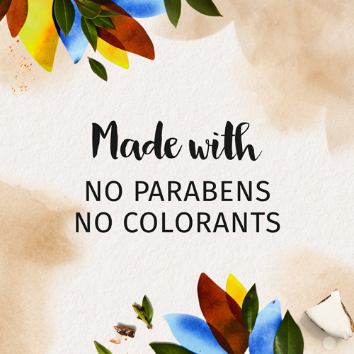 Made with no Parabens and no Colorants
