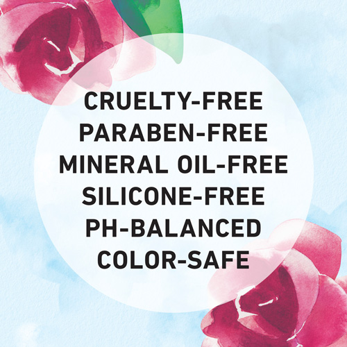 Cruelty-free, Paraben-free, Mineral Oil-free, Silicon-free, Ph-Balanced, and Color-safe