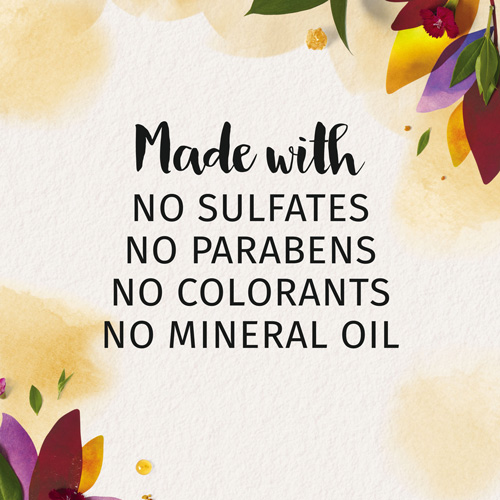 Made with no Sulfates, no Parabens, no Colorants, and no Mineral Oil