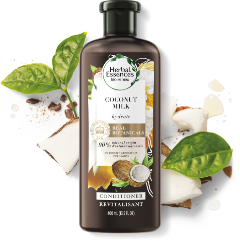 Herbal Essences Coconut Milk Conditioner Bottle for Hair Hydration