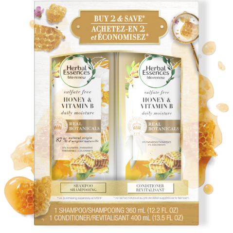 Herbal Essences Honey & Vitamin B Shampoo & Conditioner Bottles
