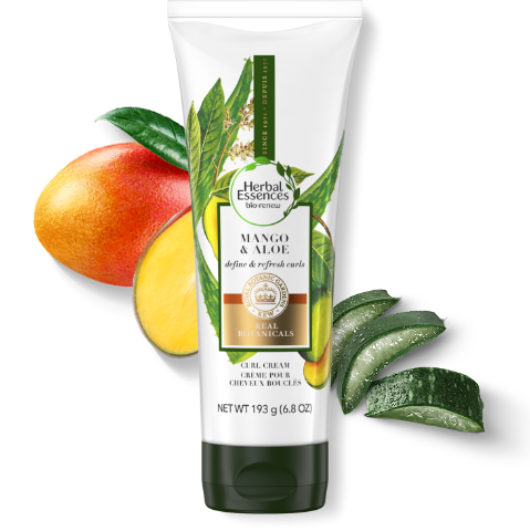 Herbal Essences mango & aloe vera curl cream tube