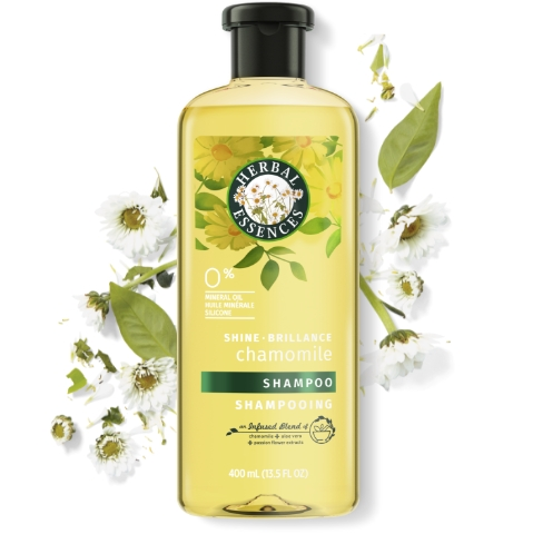 Herbal Essences Chamomile Shampoo Bottle for Shine