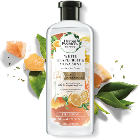 Herbal Essences White Grapefruit and Mosa Mint Volumizing Shampoo Bottle